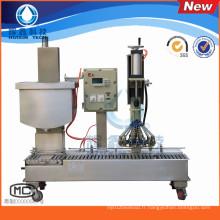 Machine de remplissage automatique avec capsulage pour les huiles / peinture / revêtement