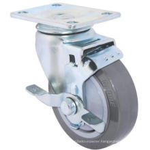 Swivel PU Caster with Side Brake (Gray)(Flat Surface) (3304361)
