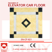 Благородные цвета ПВХ-пола для отделки напольного подъемного лифта (SN-CF-621)