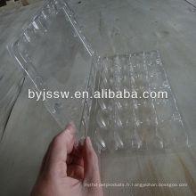 Plateau d'oeufs de caille en plastique de 24 unités