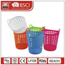 plastic PE laundry basket with handle/storage basket/plastic household items