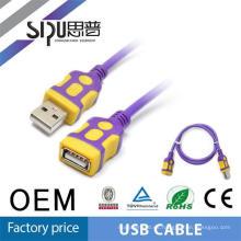 SIPUO alta calidad 2.0 ronda micro usb macho a hembra del cable para usb