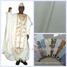 De Bonne Qualité Tissu de coton doux de coton de Brocade de promotion de la Jamaïque Shadda Bazin Riche tissu africain de vêtement