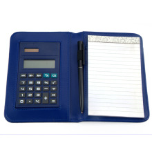 Leather Cover Custom Notebook Calculator With Pen