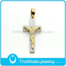 Cruz cristiana colgante cruz de acero inoxidable JESUS Stiker Charm colgante católico regalo venta al por mayor para hombre