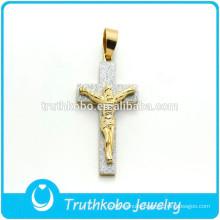 Christian Cross Jewelry Stainless Steel Cross Pendant JESUS Stiker Charm Pendant Catholic Gift Wholesale For Man