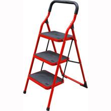 Escalera de escalada segura de la escalera de acero de 3 pasos interior del hogar rojo