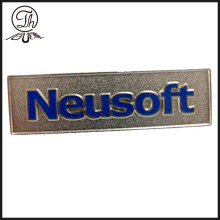 Placas de metal personalizado logotipo en relieve