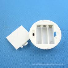 Daier redondo 3x1.5v un soporte de batería con cubierta 3x1.5v aa soporte de batería
