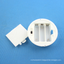 Daier round 3x1.5v aa battery holder with cover 3x1.5v aa battery holder
