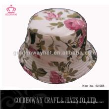 Sombrero impreso vendedor caliente de la impresión floral de los sombreros del cubo