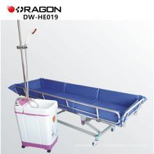 DW-HE019 Hôpital bain Trolley douche lit de bain