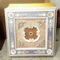 Plafonnier artistique suspendu artistique suspendu en dentelle dorée Dl-1182-3