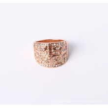 Fashion Style Jewelry Ring Rose Gold Plated with Rhinestones