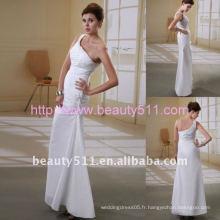 Astergarden nouveau style une épaule en satin dressant une robe de mariageAS056