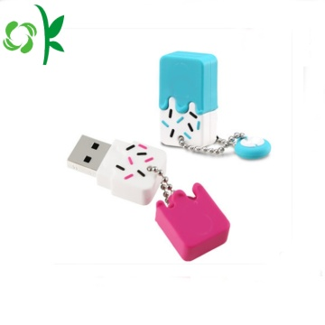 Es-krim Silikon USB Flash Drive Case U-disk Cover