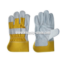 Gelbe Kuh Split Full Palm Working Handschuh-3056.01