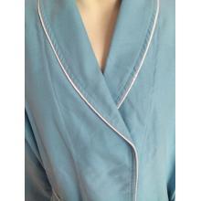 luxury Polyester Microfiber Shawl Collar Sleepwear