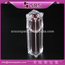 Forma Quadrada Loção Acrílica Garrafa Para Embalagem Cosmética, Luxo 30ml 50ml 80ml 120ml Loção Decorativa Garrafas