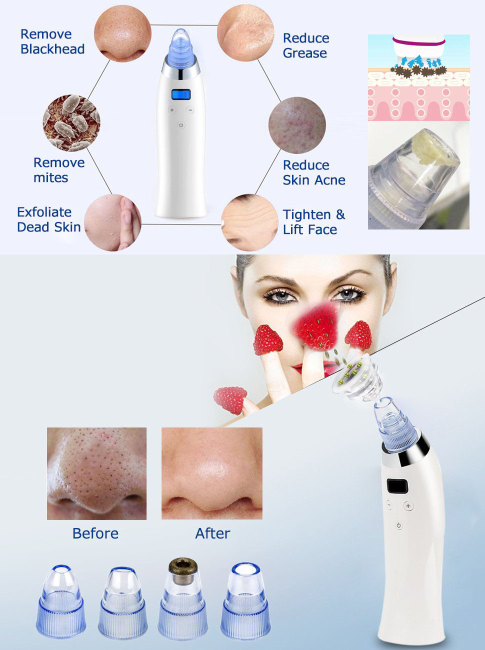 facial deep clean suction