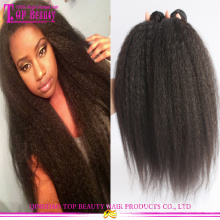 Unprocessed kinky straight yaki hair weave 100% virgin mongolian kinky straight hair