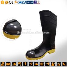 Botas de plástico de segurança de borracha pvc