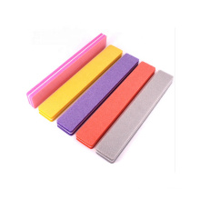 Factory Price Nail Salon Tools Nail Polishing Remover Buffer Rectangle Sponge Buffer With Acrylic stand