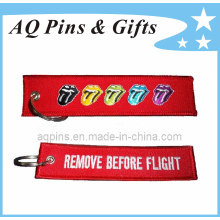 Custom Double Sided Embroidery Patch Key Chain