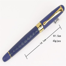 Office Brand Black Business Customized Logo Promotional Ball Pen with PU Leather