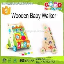 2015 Unique Fashion Style Wooden Baby Walker Funny Kids Toy