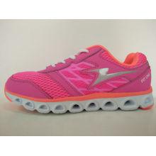 Ladies Pink Running Shoes Flat Footwear