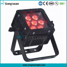 Im Freien wasserdichtes quadratisches LED RGBW 7X10W flaches PAR-Licht