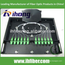 Panneau de raccordement fibre fixe fixé en rack de 19 po 1U avec couvercle transparent