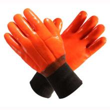 Оранжевые 2 слоя полностью окунутые ПВХ домашние перчатки
