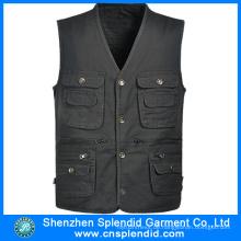 Fabrik Custom Design Journalist Twill modische Arbeit Pocket Vest