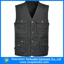 Custom Design Journalist Twill Work Pocket Vest