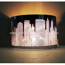 Lámpara de mesa de acero inoxidable de corte láser para proyecto de hotel interior