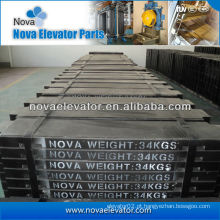 Bloco do contrapeso do elevador, bloco do contrapeso do composto / do ferro de molde para o elevador do elevador / elevador do cargo /