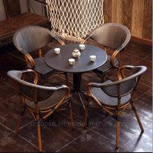 Старинные кафе ресторан ротанга Мебель для 4 человек (СП-CT838)
