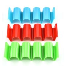 Food Grade plastic Dishwasher 4-grid tortilla Kids Plastic Stand Storage Rack Taco Holder