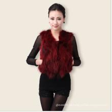 Chaleco de la piel de Fox de la señora corta atractivo, Europa Chaleco de la piel delgado popular, otoño de la primavera de las mujeres Outwear la chaqueta, negro rojo verde azul púrpura 1008