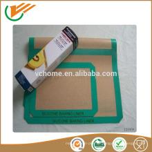 China Fabrik FDA Genehmigung Silikon Backmatte Non Stick beschichtet Fiberglas