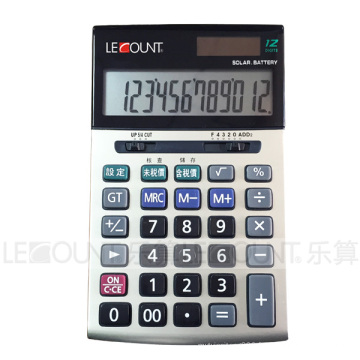 Calculatrice bureautique à 12 digits avec fonction facultative En & Jp Tax (LC228T-JP)