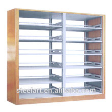 Modern school library book shelves steel library shelving