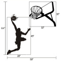 Home Decoration Basketball Printing Kids Wall Pvc Removable Decors Sticker