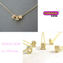"""Collar con colgante de letra """"a ~ Z"""" de cadena de oro hecho a mano personalizado vendedor caliente"""