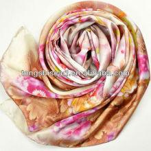 luxo impressão digital lenços de seda