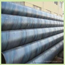 ASTM A252 tuyau en acier soudé en acier soudé en spirale SSAW