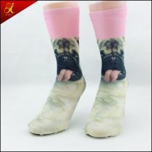 Polyester Tube Animal Print Socken