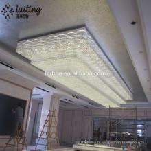 Éclairage grand cristal moderne fait sur commande de cinq étoiles d'hôtel